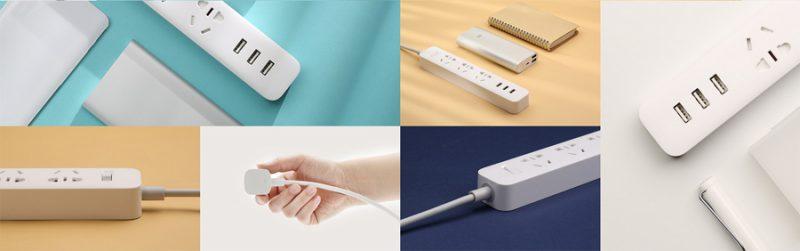 Ổ cắm điện Xiaomi Mi Power Strip 3 cổng usb