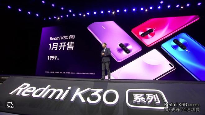 Redmi K30 5G chính thức ra mắt: Chip Snapdragon 765, màn hình 6,67 inch 120Hz, 4 camera sau, cảm biến chính 64MP, giá bán từ 280 USD - Ảnh 1.