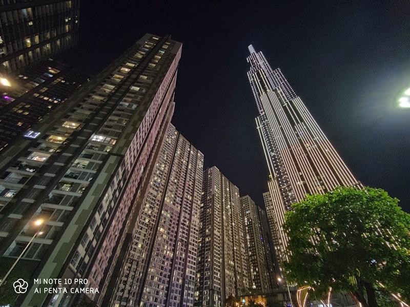 Xiaomi Mi Note 10 Pro | Ảnh chụp ban đêm bằng camera sau
