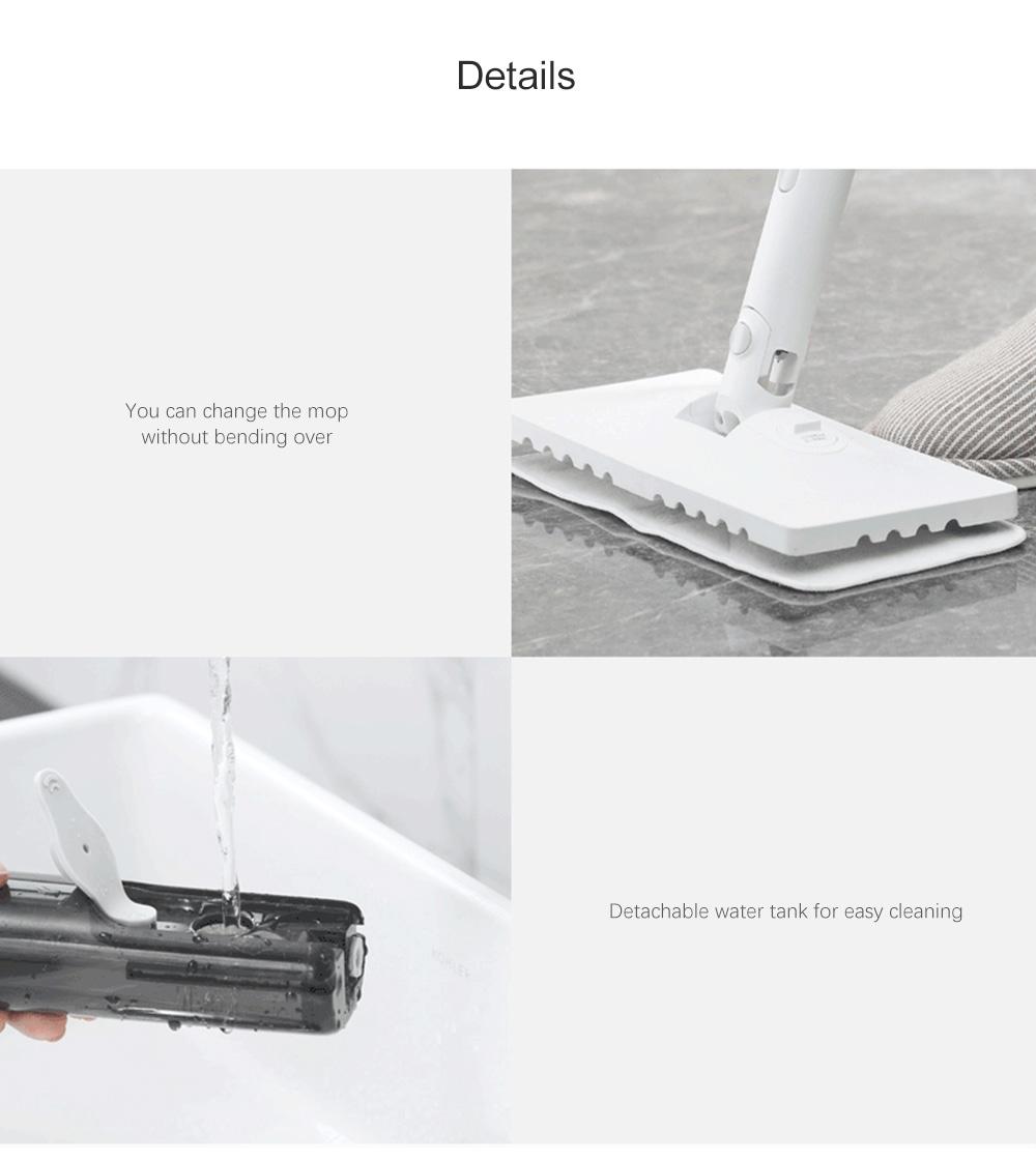Deerma DEM - Công cụ cầm tay hơi nước đa chức năng ZQ610- Cắm trắng EU